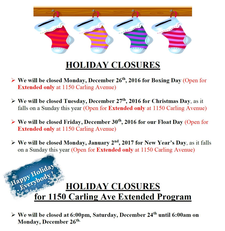 holiday-closures