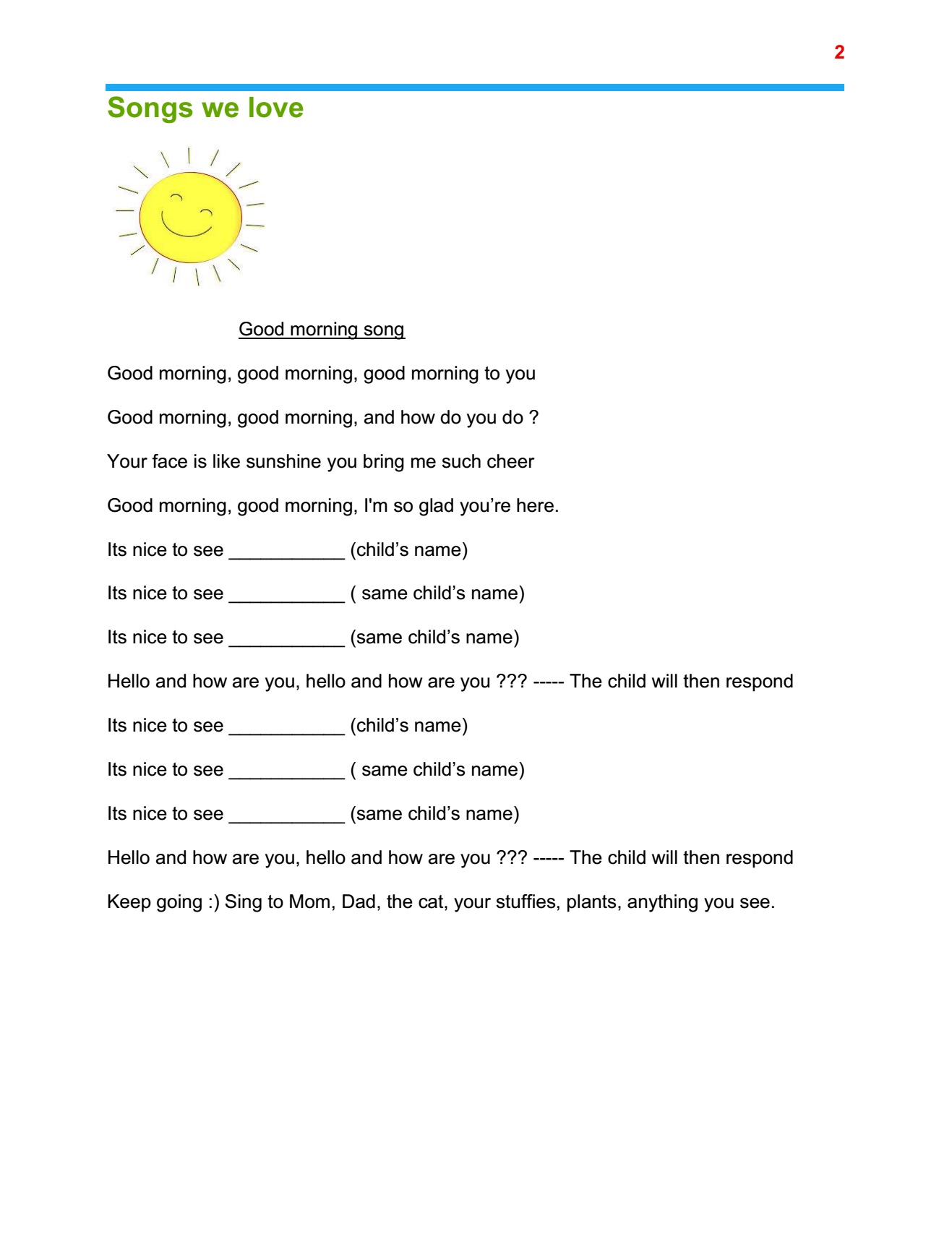 Stay at home program plan Sr Preschool page 2