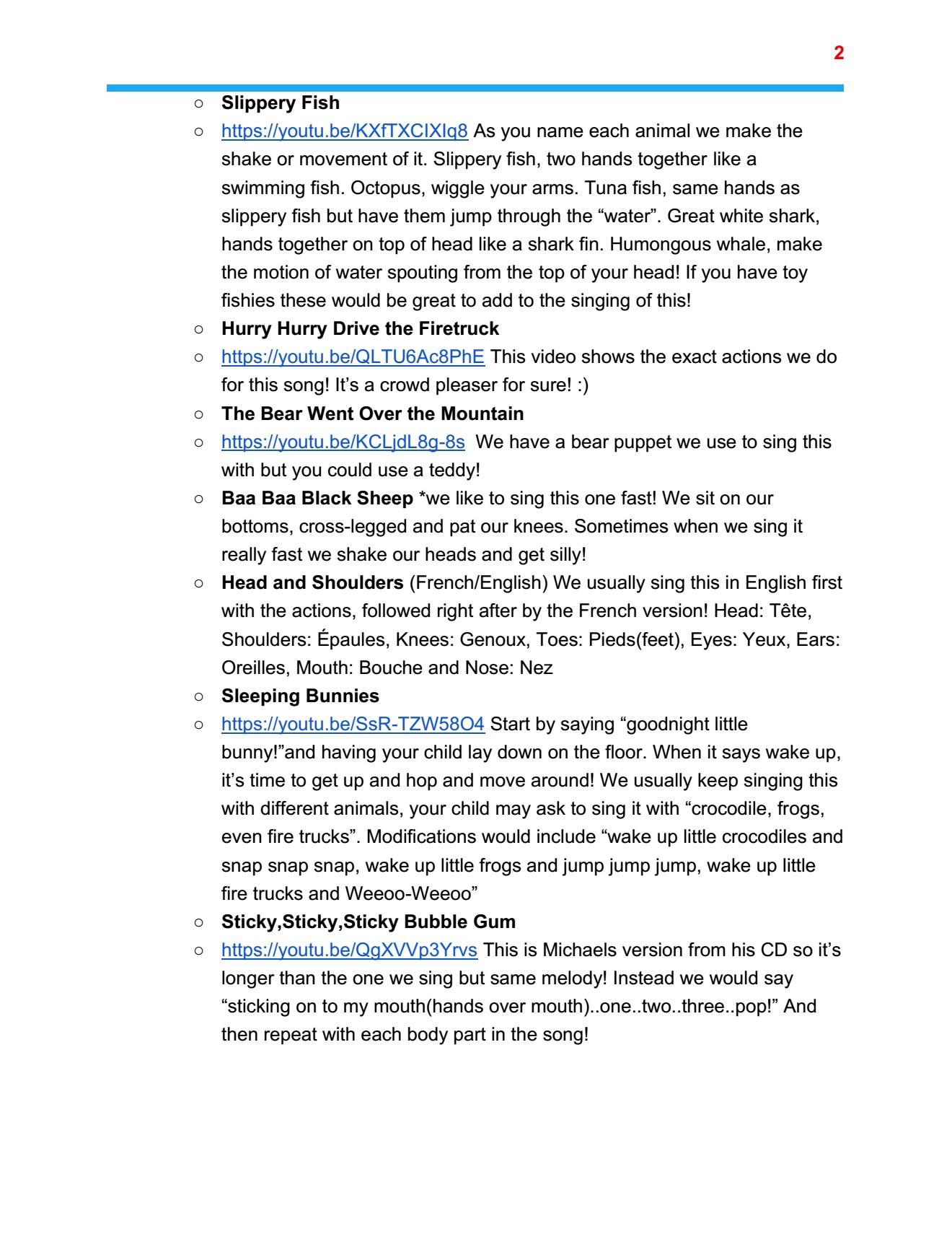 Toddler plan page 2