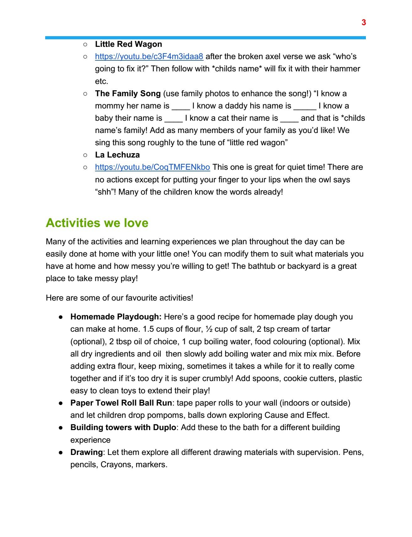 Toddler plan page 3